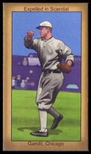 Picture of Helmar Brewing Baseball Card of Chick Gandil, card number 29 from series Famous Athletes