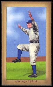 Picture of Helmar Brewing Baseball Card of Hughie JENNINGS (HOF), card number 43 from series Famous Athletes