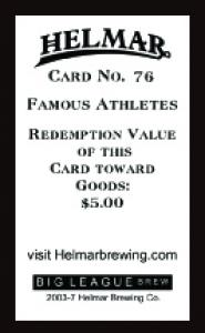 Picture, Helmar Brewing, Famous Athletes Card # 76, Fred McMullen, Portrait, Chicago White Sox