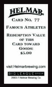 Picture, Helmar Brewing, Famous Athletes Card # 77, Lefty Williams, Portrait, Chicago White Sox