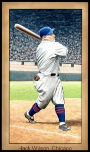 Picture of Helmar Brewing Baseball Card of Hack WILSON, card number 79 from series Famous Athletes