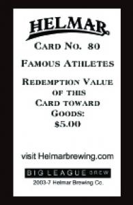 Picture, Helmar Brewing, Famous Athletes Card # 80, Lloyd WANER (HOF), Portrait, Pittsburgh Pirates