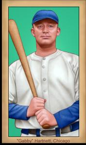 Picture of Helmar Brewing Baseball Card of Gabby HARTNETT, card number 94 from series Famous Athletes