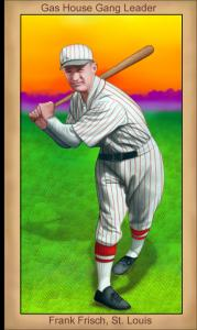 Picture of Helmar Brewing Baseball Card of Frank FRISCH (HOF), card number 97 from series Famous Athletes