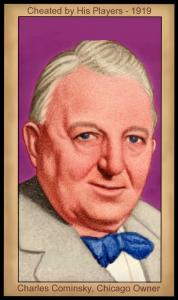 Picture, Helmar Brewing, Famous Athletes Card # 99, Charles Comiskey (HOF), Portrait, Chicago White Sox