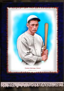 Picture of Helmar Brewing Baseball Card of Charlie GEHRINGER, card number 15 from series French Silks Large