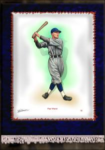 Picture of Helmar Brewing Baseball Card of Paul WANER (HOF), card number 19 from series French Silks Large