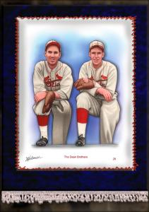 Picture of Helmar Brewing Baseball Card of Daffy Dean, card number 28 from series French Silks Large