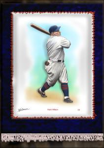 Picture of Helmar Brewing Baseball Card of Hack WILSON, card number 29 from series French Silks Large
