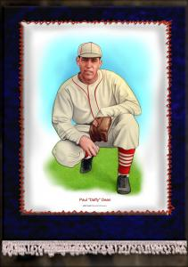 Picture of Helmar Brewing Baseball Card of Daffy Dean, card number 4 from series French Silks Large