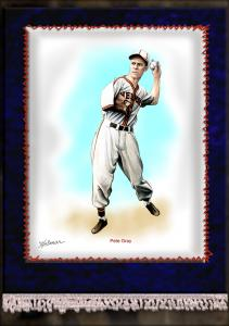 Picture of Helmar Brewing Baseball Card of Pete Gray, card number 7 from series French Silks Large