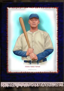 Picture of Helmar Brewing Baseball Card of Gabby HARTNETT, card number 8 from series French Silks Large