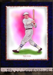 Picture of Helmar Brewing Baseball Card of Rogers HORNSBY (HOF), card number 9 from series French Silks Large