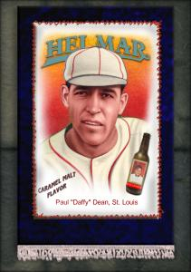 Picture of Helmar Brewing Baseball Card of Daffy Dean, card number 11 from series French Silks Small