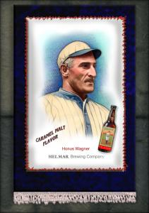 Picture, Helmar Brewing, French Silks Small Card # 12, Honus WAGNER (HOF), Portrait, Pittsburgh Pirates