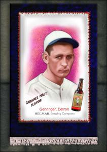 Picture of Helmar Brewing Baseball Card of Charlie GEHRINGER, card number 13 from series French Silks Small