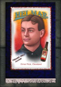 Picture, Helmar Brewing, French Silks Small Card # 14, Elmer FLICK (HOF), Portrait, Cleveland Indians
