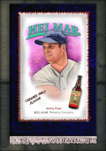 Picture, Helmar Brewing, French Silks Small Card # 15, Jimmie FOXX, Portrait, Boston Red Sox