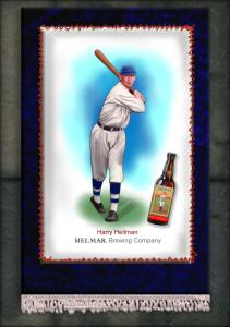 Picture of Helmar Brewing Baseball Card of Harry HEILMANN (HOF), card number 16 from series French Silks Small