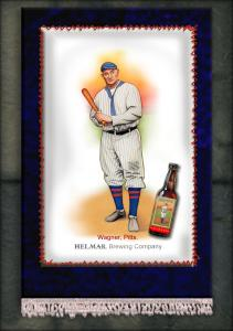 Picture of Helmar Brewing Baseball Card of Honus WAGNER (HOF), card number 17 from series French Silks Small