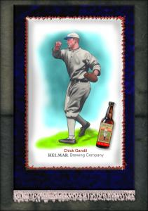 Picture, Helmar Brewing, French Silks Small Card # 19, Chick Gandil, Full Body, Chicago White Sox