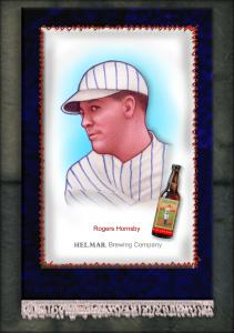 Picture of Helmar Brewing Baseball Card of Rogers HORNSBY (HOF), card number 20 from series French Silks Small