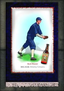 Picture, Helmar Brewing, French Silks Small Card # 21, Buck Weaver, Full Body, Chicago White Sox