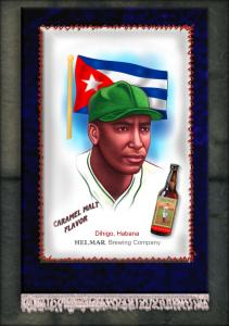 Picture of Helmar Brewing Baseball Card of Martin DIHIGO (HOF), card number 2 from series French Silks Small