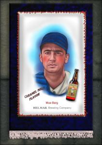 Picture of Helmar Brewing Baseball Card of Moe Berg, card number 3 from series French Silks Small