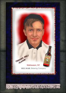 Picture, Helmar Brewing, French Silks Small Card # 5, Christy MATHEWSON (HOF), Portrait, New York Giants