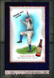 Picture of Helmar Brewing Baseball Card of Hughie JENNINGS (HOF), card number 6 from series French Silks Small