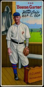 Picture of Helmar Brewing Baseball Card of Fred CLARKE (HOF), card number 11 from series H813-4 Boston Garter-Helmar