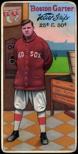Picture of Helmar Brewing Baseball Card of Babe RUTH (HOF), card number 18 from series H813-4 Boston Garter-Helmar