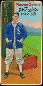 Picture of Helmar Brewing Baseball Card of Ed WALSH (HOF), card number 19 from series H813-4 Boston Garter-Helmar