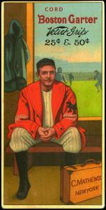 Picture of Helmar Brewing Baseball Card of Christy MATHEWSON (HOF), card number 3 from series H813-4 Boston Garter-Helmar