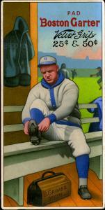 Picture of Helmar Brewing Baseball Card of Burleigh GRIMES (HOF), card number 4 from series H813-4 Boston Garter-Helmar