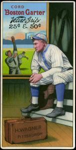 Picture of Helmar Brewing Baseball Card of Honus WAGNER (HOF), card number 6 from series H813-4 Boston Garter-Helmar