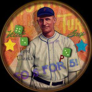 Picture of Helmar Brewing Baseball Card of Fred CLARKE (HOF), card number 78 from series H813-4 Boston Garter-Helmar