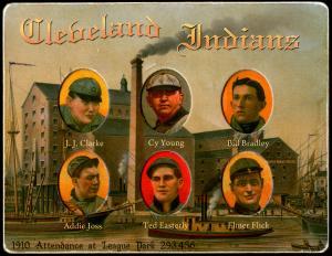 Picture of Helmar Brewing Baseball Card of Elmer FLICK (HOF), card number 14 from series Helmar Die-Cut