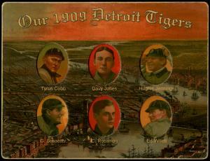 Picture of Helmar Brewing Baseball Card of Hughie JENNINGS (HOF), card number 15 from series Helmar Die-Cut