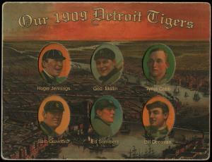 Picture of Helmar Brewing Baseball Card of Hughie JENNINGS (HOF), card number 26 from series Helmar Die-Cut