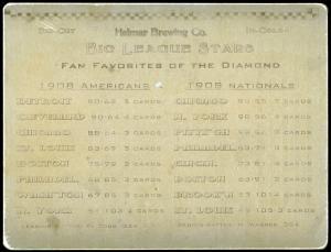 Picture, Helmar Brewing, Helmar 6 Up Die-Cut Card # 46, F Parent; F Payne; B Purtell; E Walsh (HOF); L Tannehill; F Smith;, AL AMERICAN, Chicago White Sox
