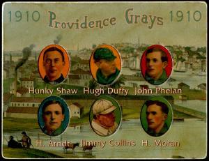 Picture of Helmar Brewing Baseball Card of Hugh DUFFY, card number 54 from series Helmar Die-Cut