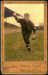 Picture of Helmar Brewing Baseball Card of Christy MATHEWSON (HOF), card number 14 from series Helmar Brewing Co. Cabinet