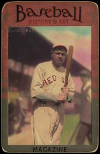 Picture of Helmar Brewing Baseball Card of Babe RUTH (HOF), card number 20 from series Helmar Brewing Co. Cabinet