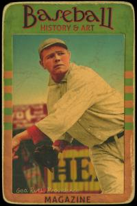 Picture of Helmar Brewing Baseball Card of Babe RUTH (HOF), card number 61 from series Helmar Brewing Co. Cabinet