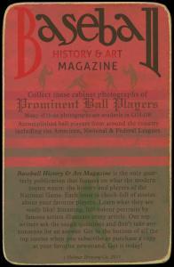 Picture, Helmar Brewing, Helmar Cabinet Card # 69, Honus WAGNER (HOF), Helmar sign in back, Pittsburgh Pirates