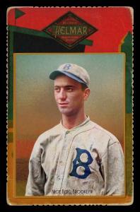 Picture of Helmar Brewing Baseball Card of Moe Berg, card number 68 from series Helmar Cabinet Series II