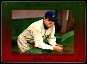 Picture of Helmar Brewing Baseball Card of Babe RUTH (HOF), card number 136 from series Helmar Imperial Cabinet