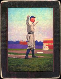 Picture of Helmar Brewing Baseball Card of Hughie JENNINGS (HOF), card number 30 from series Helmar Imperial Cabinet